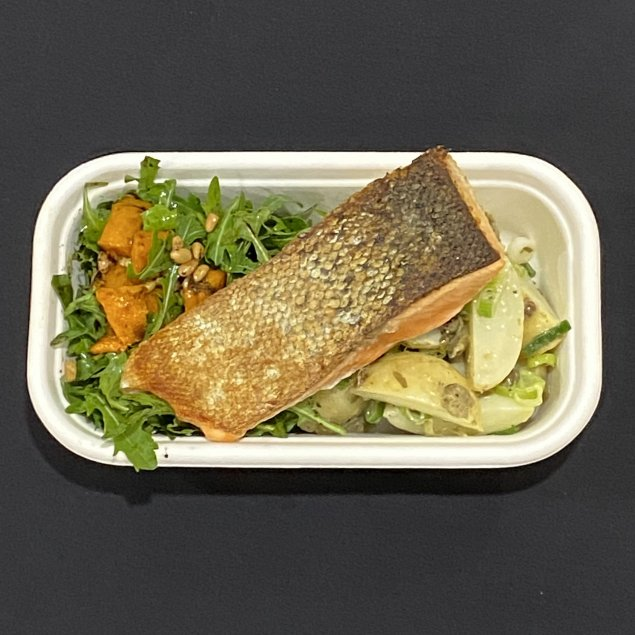 Grilled Salmon Lunch Box