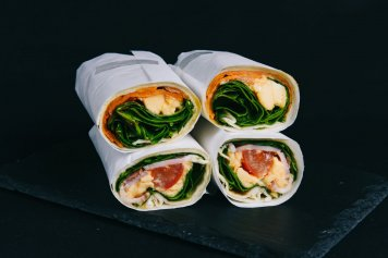 Scrambled Egg Wrap with Pumpkin (Vegetarian)